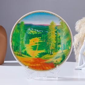 Тарелка декоративная «Летний лес», настенная, D = 19,5 см