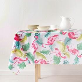 """Tablecloth """"Share"""" Flamingo 140×180 cm, 100% p/e"""