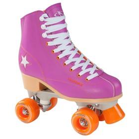 Ролики-квады Rollschuh Roller Disco, цвет лиловый/оранжевый, размер 37