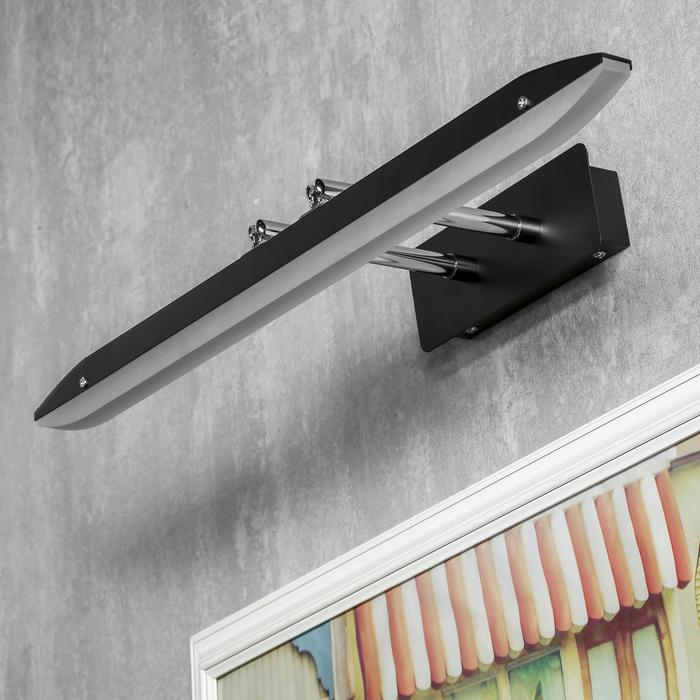 """Подсветка для картин и зеркал """"Пикассо"""" LED 12Вт 6000К черный 55х24,5х7 см"""