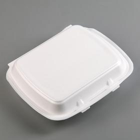 Ланчбокс 24,7×20,8×6,3 см, 1 секция, 130 шт/уп, цвет белый