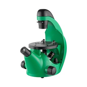 Микроскоп школьный Эврика 40х-320х инвертированный, цвет лайм