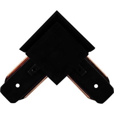 Коннектор угловой для шинопровода LD1001, цвет чёрный