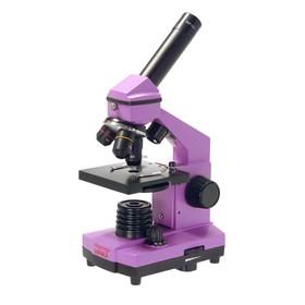 Микроскоп школьный Эврика 40х-400х в кейсе, цвет аметист