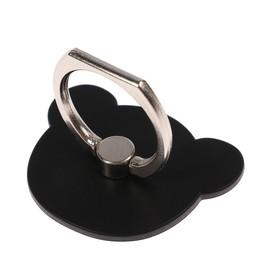 Держатель-подставка с кольцом для телефона LuazON, в форме 'Мишки', чёрный Ош