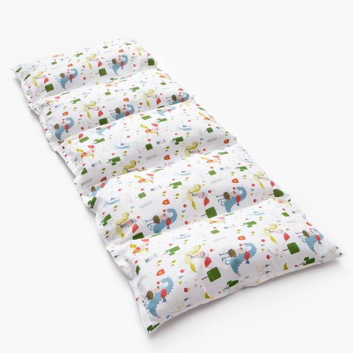 Матрасик с подушками «Рыцари» двусторонний 70×190 см, бязь/спанбонд