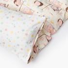 Матрасик с подушками «Совы» двусторонний 70×190 см, бязь/спанбонд - фото 105559442