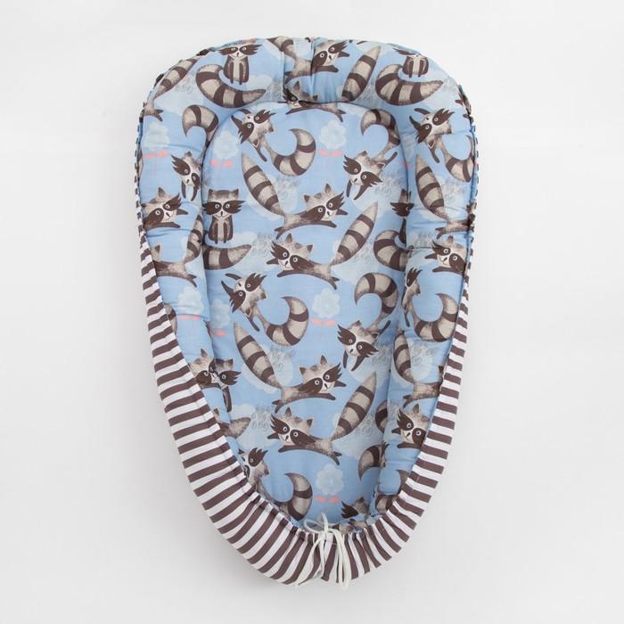 Матрасик-топпер «Еноты», размер 72×100 см, бязь/синтепух - фото 105558985