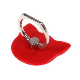 Держатель-подставка с кольцом для телефона LuazON, в форме 'Кошки', красный Ош