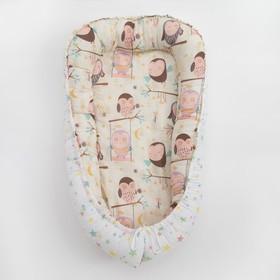Матрасик-топпер «Совы», размер 72×100 см, бязь/синтепух