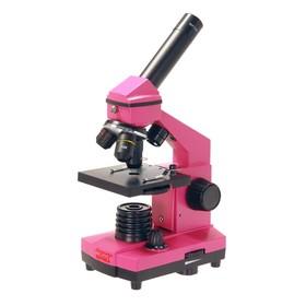 Микроскоп школьный Эврика 40х-400х в кейсе, цвет фуксия