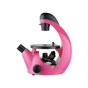 Микроскоп школьный Эврика 40х-320х инвертированный, цвет фуксия