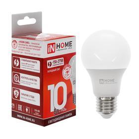Лампа светодиодная IN HOME LED-A60-VC, Е27, 10 Вт, 230 В, 6500 К, 900 Лм