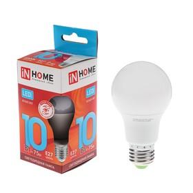 Лампа светодиодная IN HOME LED-A60-VC, Е27, 10 Вт, 230 В, 4000 К, 900 Лм