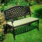 Подушка для скамьи 103 х 46 х 3 см, темп, на 2-х завязках, чехол без молнии
