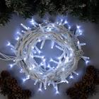 """Гирлянда """"Нить"""" уличная, УМС 10 м, 3W Каучук LED(IP65-M)-100-220V, нить белая, свечение белое"""
