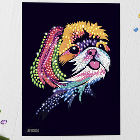 Мозаика стразами «Маленькая собачка». Набор для творчества