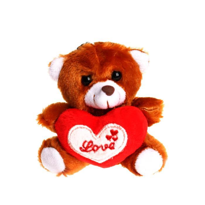 Игрушка-присоска «Мишка», с сердцем, цвета МИКС - фото 798187955