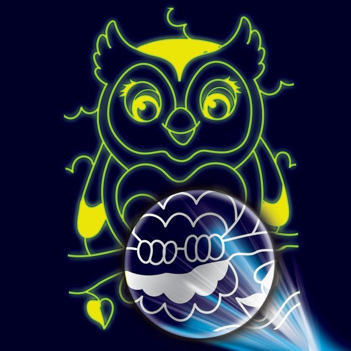 """Лунная гравюра """"Сова"""" 14,8*21 см с металлическим эффектом серебра+ штихель"""