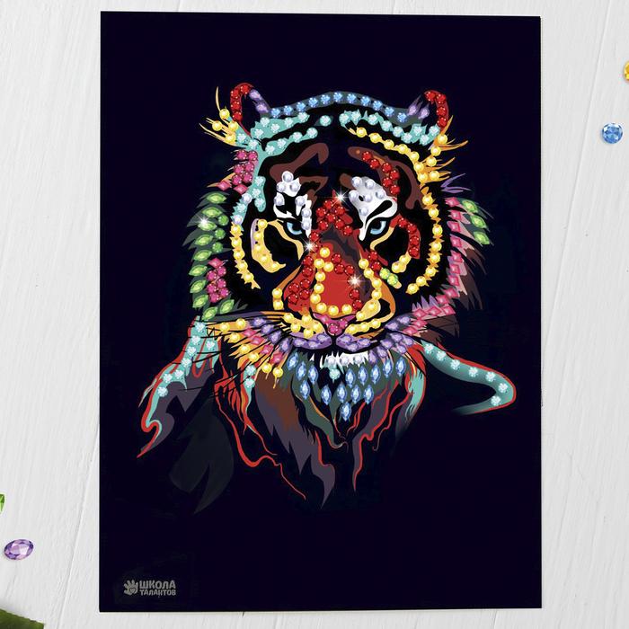 Мозаика стразами «Тигриный взгляд». Набор для творчества