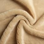 Мех искусственный, размер 40×50 см, цвет песочный