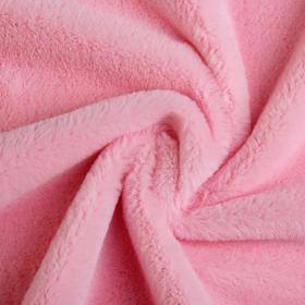 Мех искусственный, размер 40×50 см, цвет нежно розовый