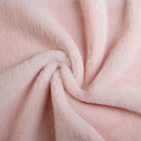 Мех искусственный, размер 40×50 см, цвет пудрово розовый