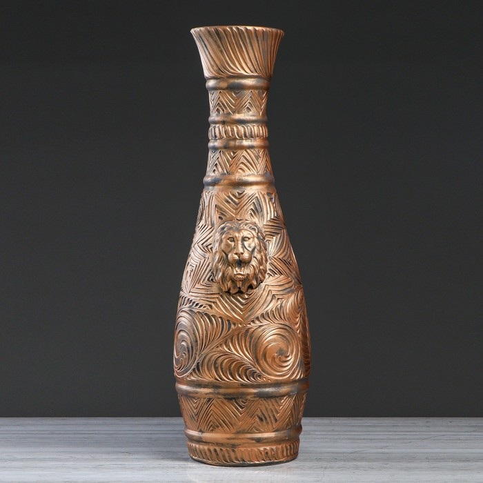 "Ваза напольная ""Афина"", медь, 82 см, микс"