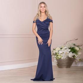 Платье женское MINAKU, цвет тёмно-синий, размер 42