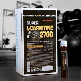 Супер L-Карнитин 2700 IRONMAN, 40 ампул/25 мл
