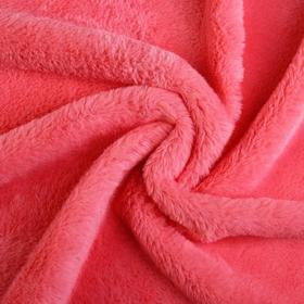 Мех искусственный, размер 40×50 см, цвет розовый