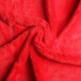 Мех искусственный, размер 40×50 см, цвет красный