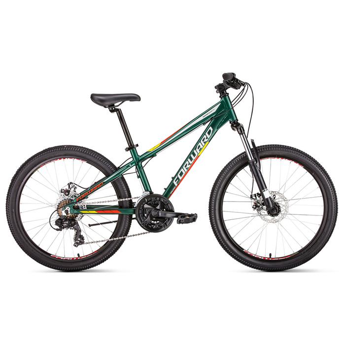 """Велосипед 24"""" Forward Twister 2.0 disc, 2019, цвет зеленый мат., размер 13"""""""