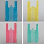 """Пакет """"4 цвета"""", полиэтиленовый, майка, МИКС, 16 х 30 см, 7 мкм"""