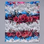 """Пакет """"Цветы нежности"""", полиэтиленовый с вырубной ручкой, 36 х 45 см, 35 мкм"""