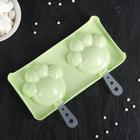 """Форма для мороженого 20х10х1,5 см """"Лапки"""", 2 ячейки, цвет МИКС"""