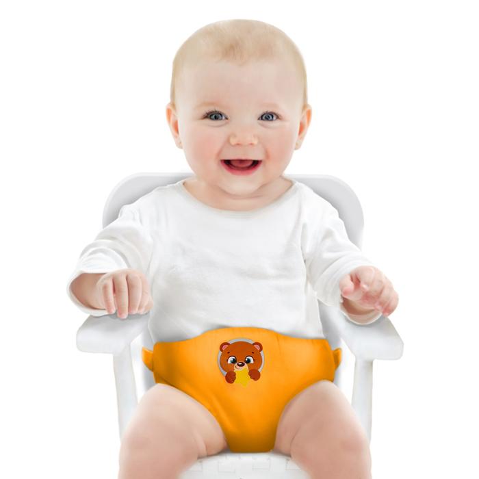 Детский пояс-фиксатор «Мишка», регулируемые ремни, цвет жёлтый
