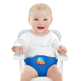 Детский пояс-фиксатор «Тачки», регулируемые ремни, цвет синий