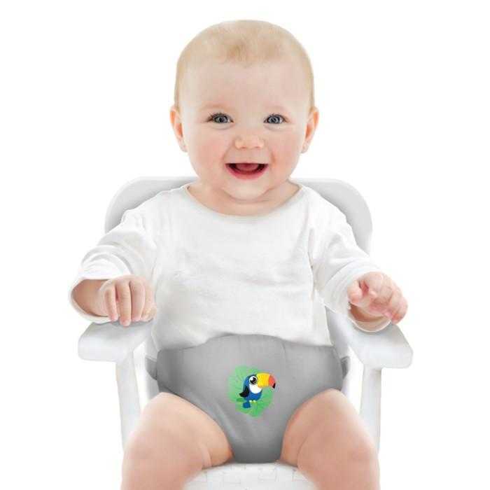 Детский пояс-фиксатор «Тукан», регулируемые ремни, цвет серый