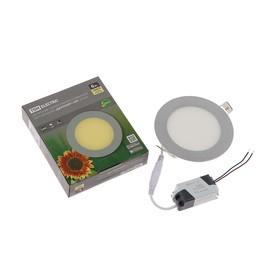 Светильник светодиодный ультратонкий встр. TDM 'Даунлайт' СВО, 6 Вт, 230В, 3000К, цвет хром Ош
