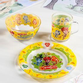 """Набор посуды детский """"Фиксики"""", 3 предмета"""