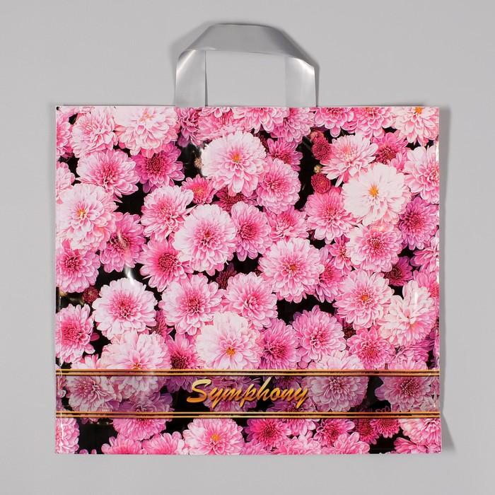 """Пакет """"Цветочная симфония"""", полиэтиленовый с петлевой ручкой, 38х35 см, 85 мкм"""