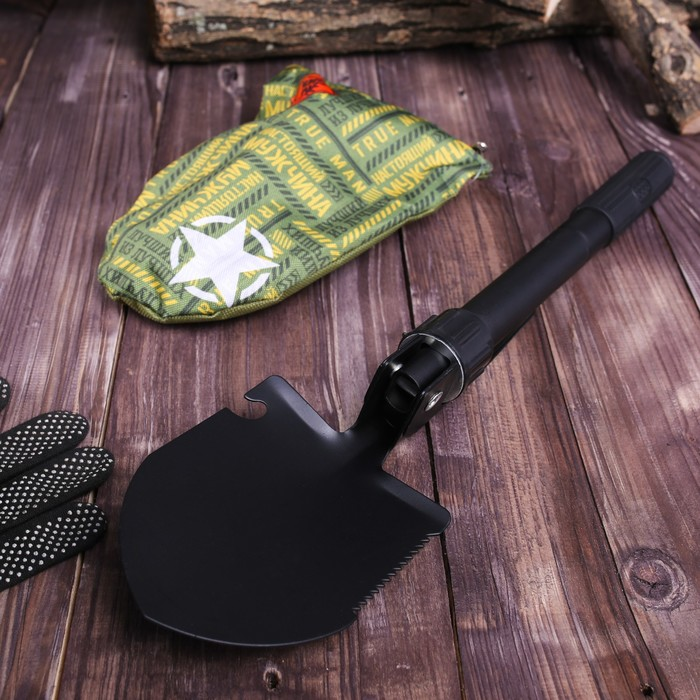 Лопата комбинированная «Number one»: пилка, открывалка, мотыжка, прорезиненная рукоять