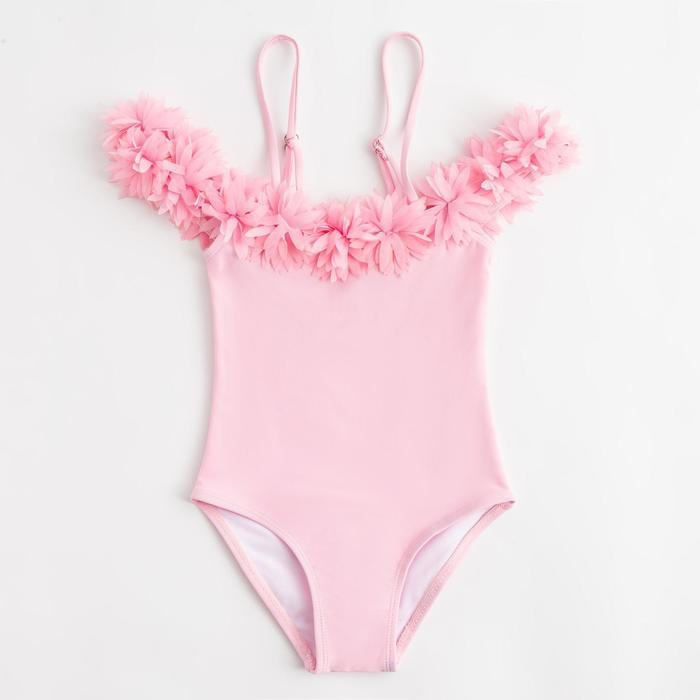 """Купальник слитный для девочки MINAKU """"Paradise"""", размер 122-128, цвет розовый"""