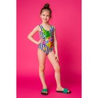 """Купальник слитный для девочки MINAKU """"Ananas"""", размер 110-116, цвет тёмно-синий/белый"""