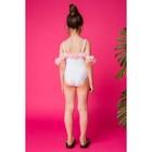 Купальник слитный для девочки MINAKU Paradise, размер 98–104, цвет белый - фото 105467635