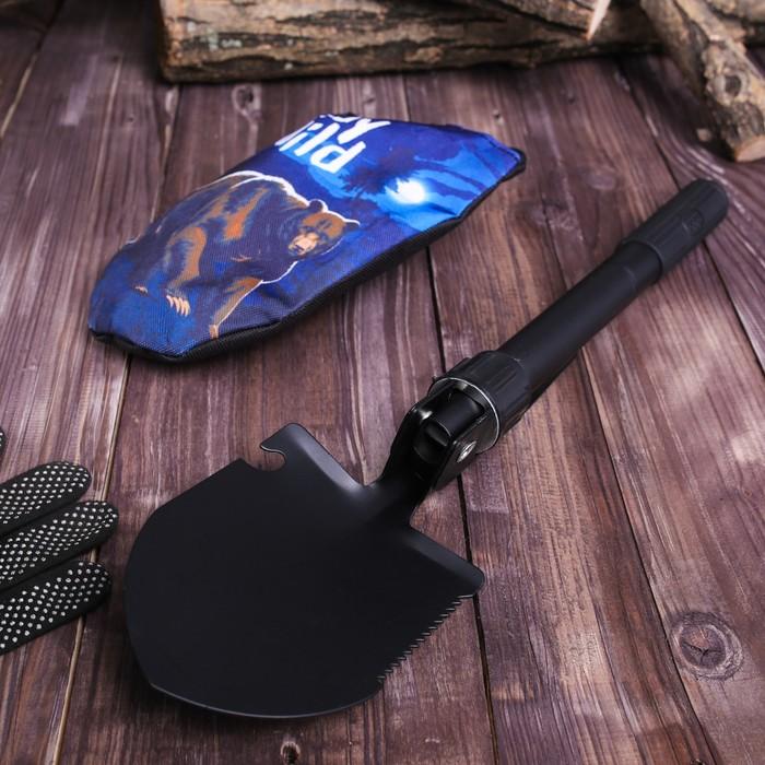 Лопата комбинированная «Stay wild»: пилка, открывалка, мотыжка, прорезиненная рукоять