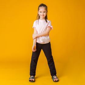 """Пижама для девочки """"Рюши"""", вид 1, рост 110-116, цвет синий/светло-розовый"""