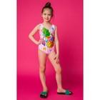 """Купальник слитный для девочки MINAKU """"Ananas"""", размер 98-104, цвет розово-белый"""
