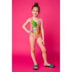"""Купальник слитный для девочки MINAKU """"Ananas"""", размер 122-128, цвет оранжевый/белый"""